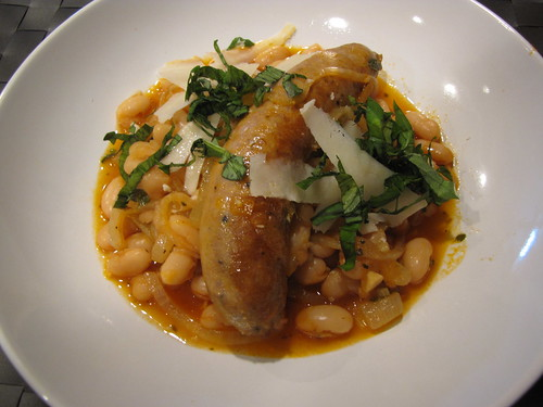 Italian Sausage with Herbed Beans