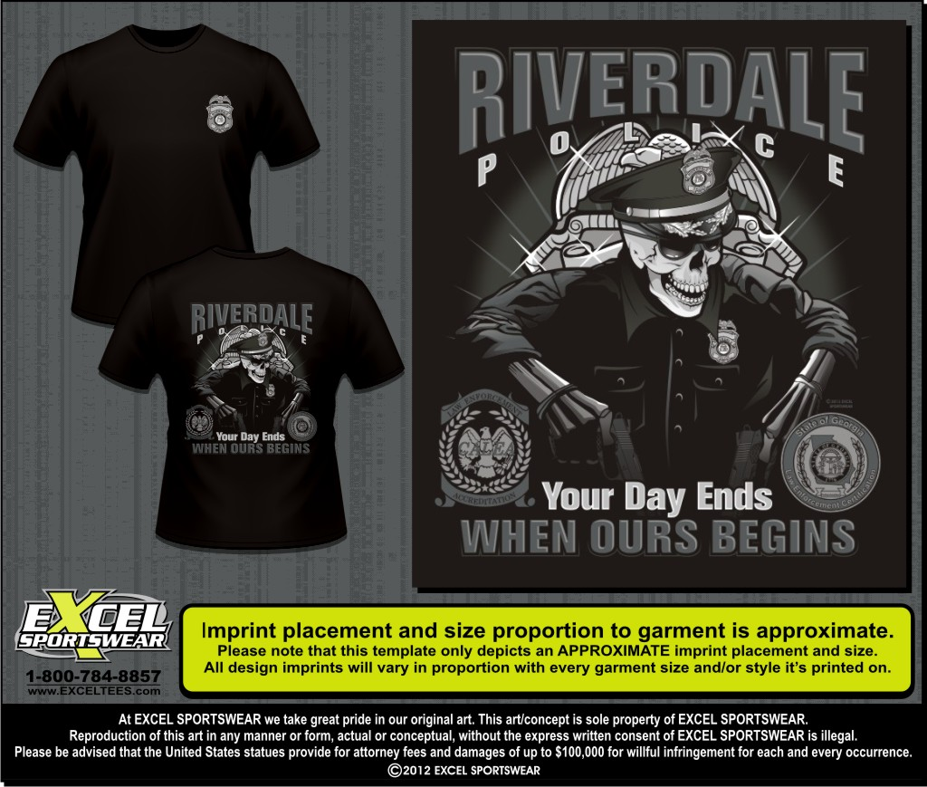 Design your own t-shirt calgary - Riverdale Police Dept Tee 52304295 A Style Font Size 0 8