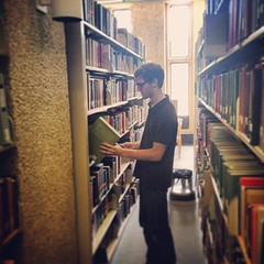 Zach Yaffee, a @TulaneU English student, is working on a project on representations of disability in medieval literature with Dr. Godden. #research #liberalarts #undergraduate #tulane