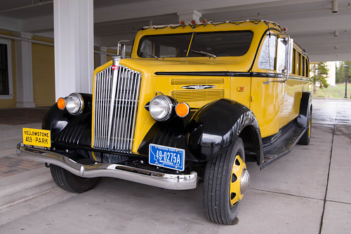 Car at Lake Yellowstone Hotel