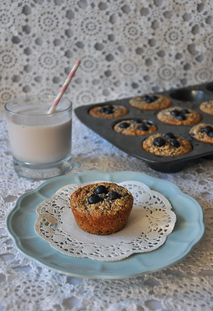 Blueberry Banana Breakfast Muffins
