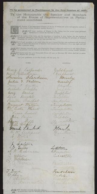 Women's suffrage 1893