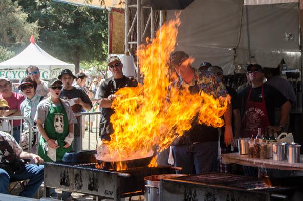 Pyro Chefs at the Gilroy Garlic Festival 2013