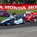 Helio Castroneves leads Scott Dixon, Justin Wilson, and Marco Andretti through the Carousel (Turn 12) at Mid-Ohio