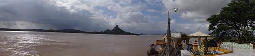 panorama pagoda asia burma august tropical myanmar haan paan hpaan phaan