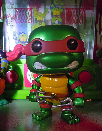 "FUNKO 'POP TELEVISION' :: TEENAGE MUTANT NINJA TURTLES - ""RAPHAEL"" #61 ;  Limited SDCC Exclusive Vynil Figure i (( 2012 ))"