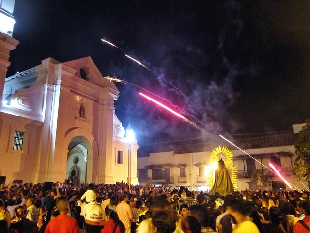 Firework celebrations in Santa Marta