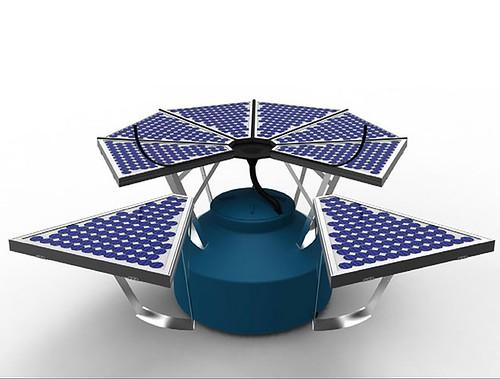 Система PhotoFlow собирает солнечную энергию и дождевую воду