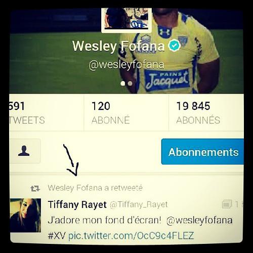 Oui oui #retweete #de #wesley #fofana #asm #clermont #rugby #XV #DE #FRANCE #happy #beau #magnifique #tagsforlikes #instagram #photo #likesforlikes #twitter #tweet #picture