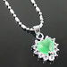 Small photo of Groene hart-vormige mode diamanten halsketting