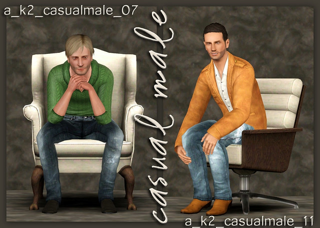 Casual Male - Poses 07 and 11
