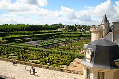 View from the upper terraces at Villandry