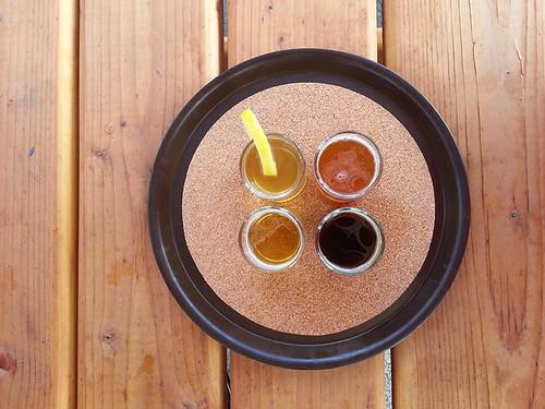beer sampler at the Grain Station