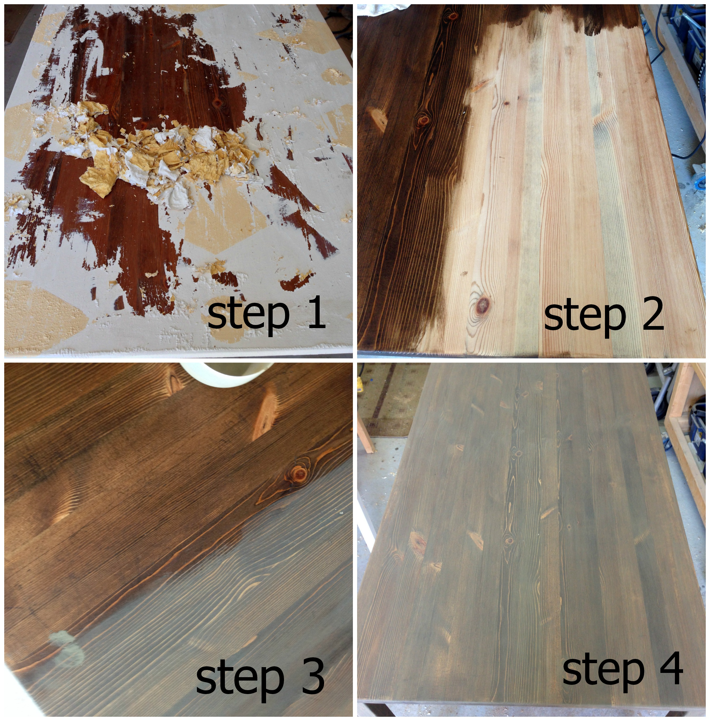 how to strip and refinish a table