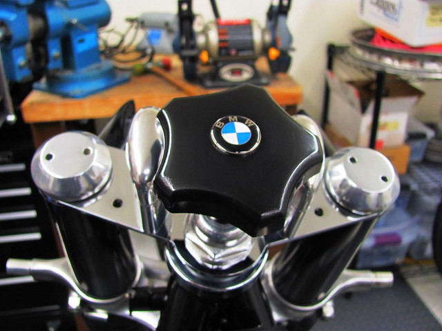 Polished Damper Knob, Emblem and Polished Upper Brace