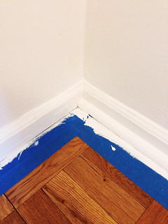 Painting the home office.