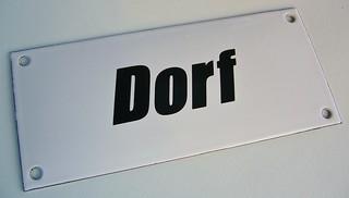 """Emaille-Schild """"Dorf"""", Edition 12/2013"""