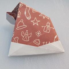 วิธีพับกระดาษรูปหมวกซานต้า 027