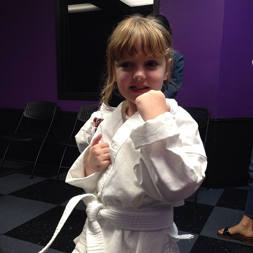 13:365 She loves her karate classes (and was thrilled to finally get to wear her uniform)