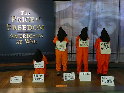 The Price of Freedom: Witness Against Torture activists call for the closure of Guantanamo in the Museum of American History