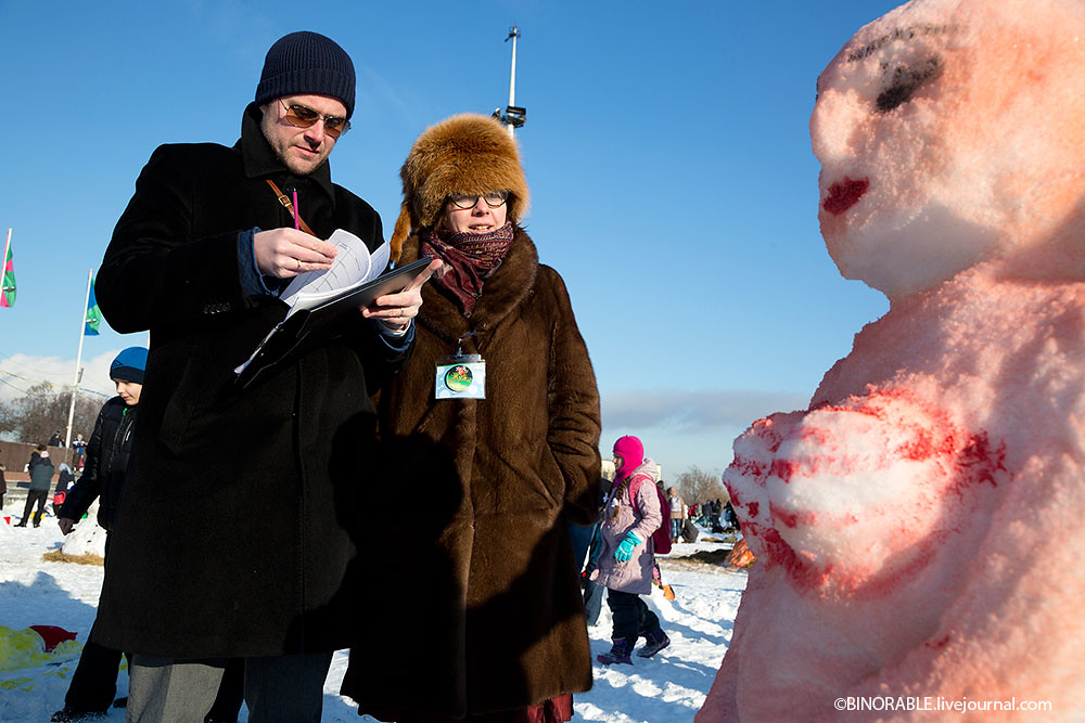 Snowman Art battle in Moscow 2014 ©binorable.livejournal.com