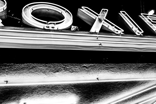 Roxie Movie Theater sign (black and white) by joeeisner