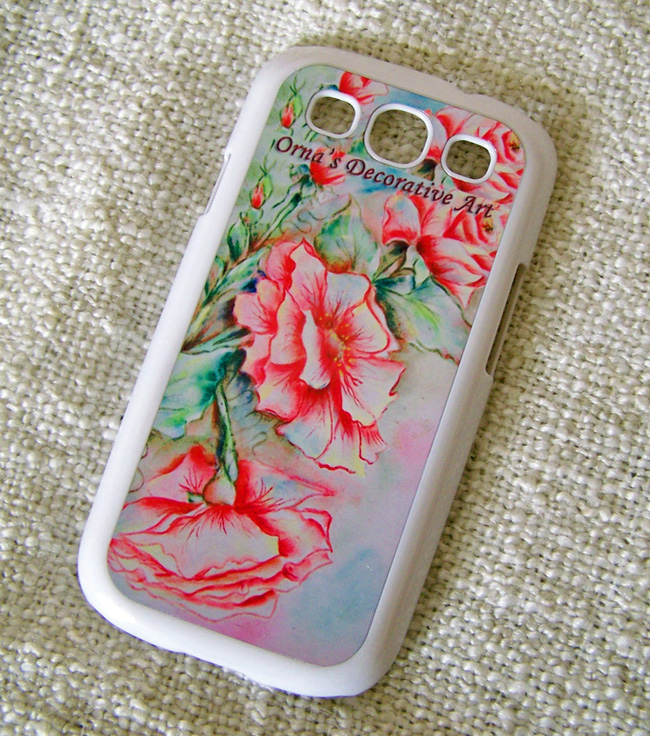 Wild Rose phone case by Orna Shachar
