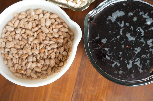 soaking beans