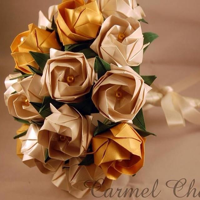 Garden Party Origami Wedding Bouquet, Bridal Bouquet, Butterfly ... | 500x500
