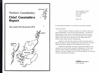Northern Constabulary Annual Report 1975