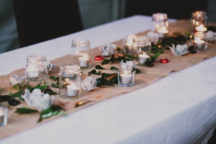 Backyard Wedding - table decorations