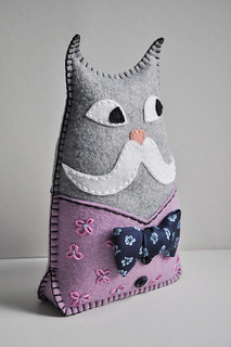 Monsieur Chat in a lilac vest!