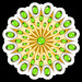 #Mandala #Gold and #Emeralds #Stickers on #Redbubble