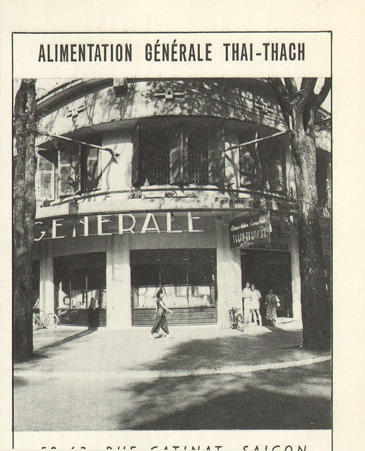 ALIMENTATION GENERALE THAI-THACH RUE CATINAT PUBLICITE 1953