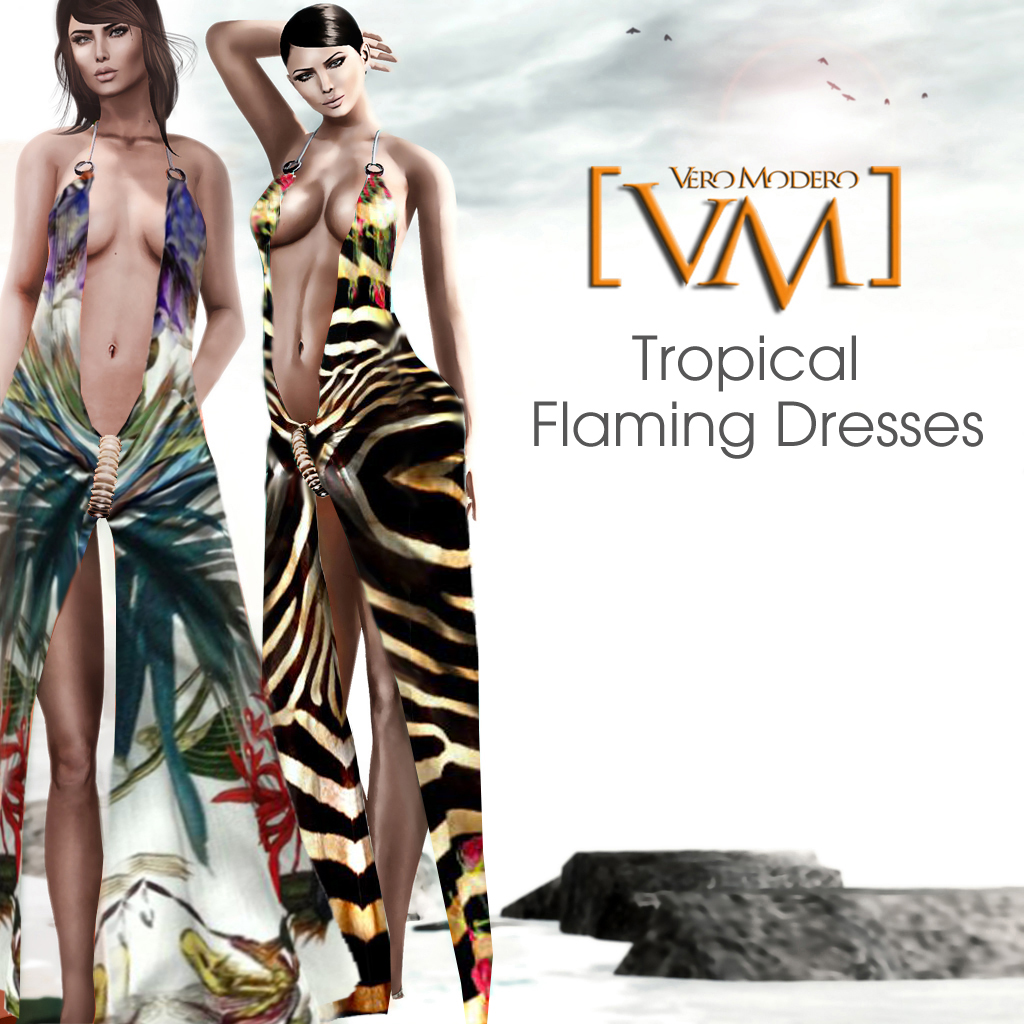 [VM] VERO MODERO  Tropical Flaming Dresses