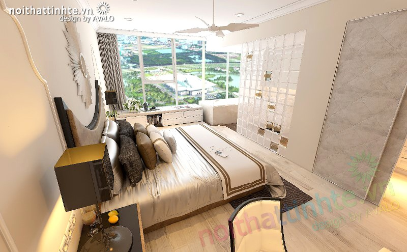 Thiết kế nội thất chung cư Thăng Long NO1 Viglacera - chị Vũ Hòa