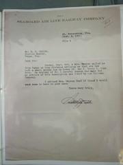 Seaboard Air Line Railway Company Correspondence, Sept. 5, 1922