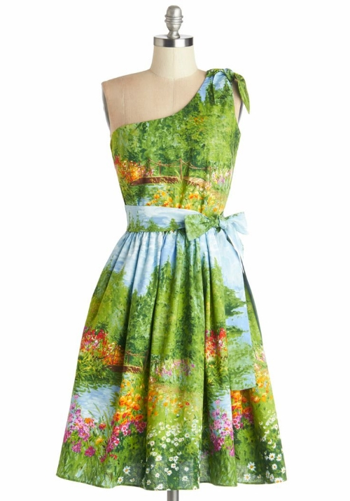 Modcloth Prettiest of All the Landscape Dress