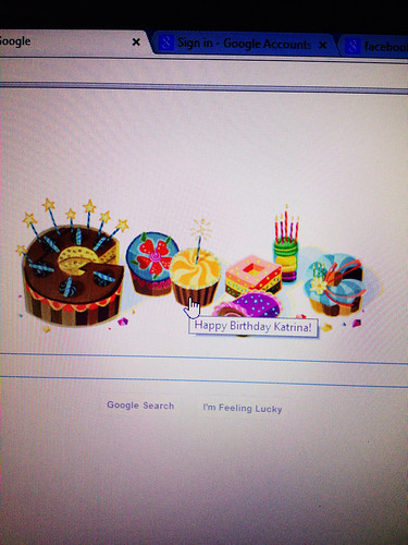 Katrina Mitchell Google Birthday greeting