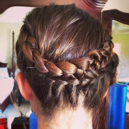 Prom Crown Braid #braidedbyme #hair #braid