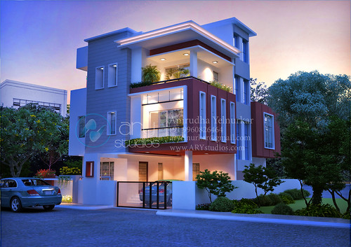 3d+home+rendering+architectural+evening+view+realistic
