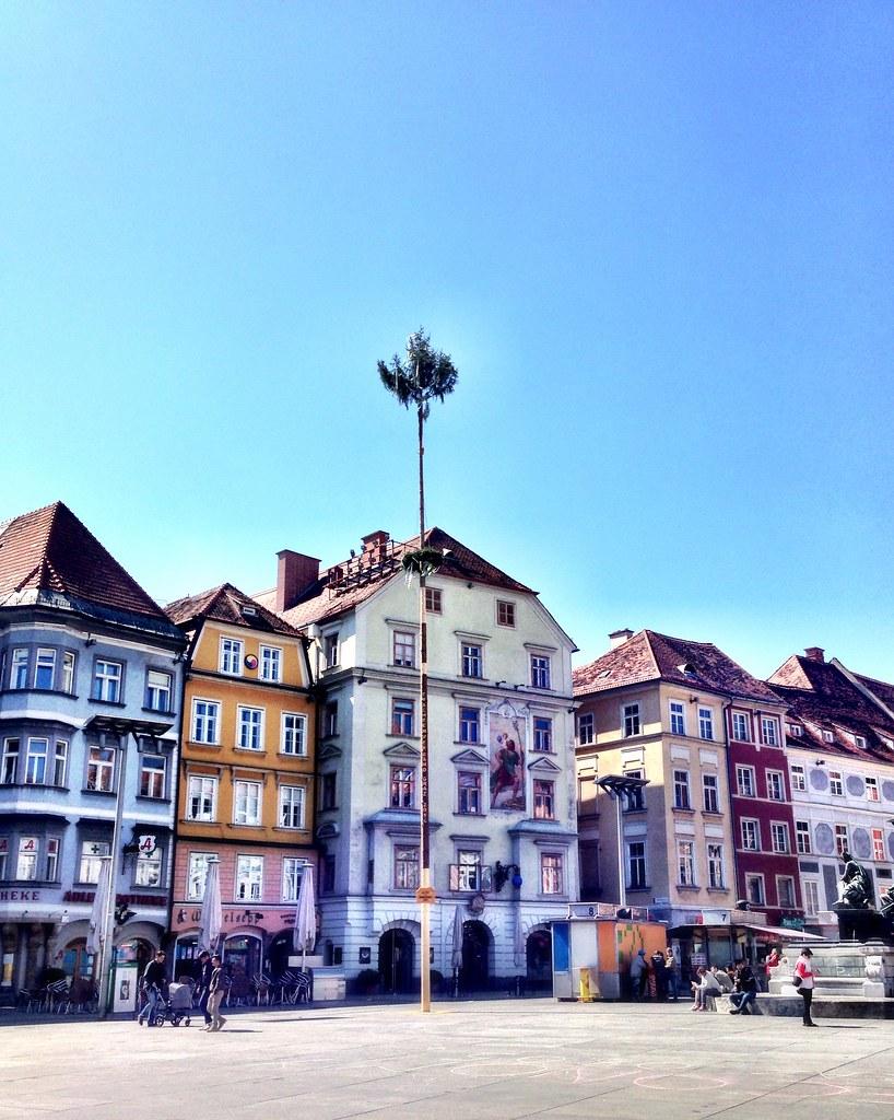 Maypole in Graz