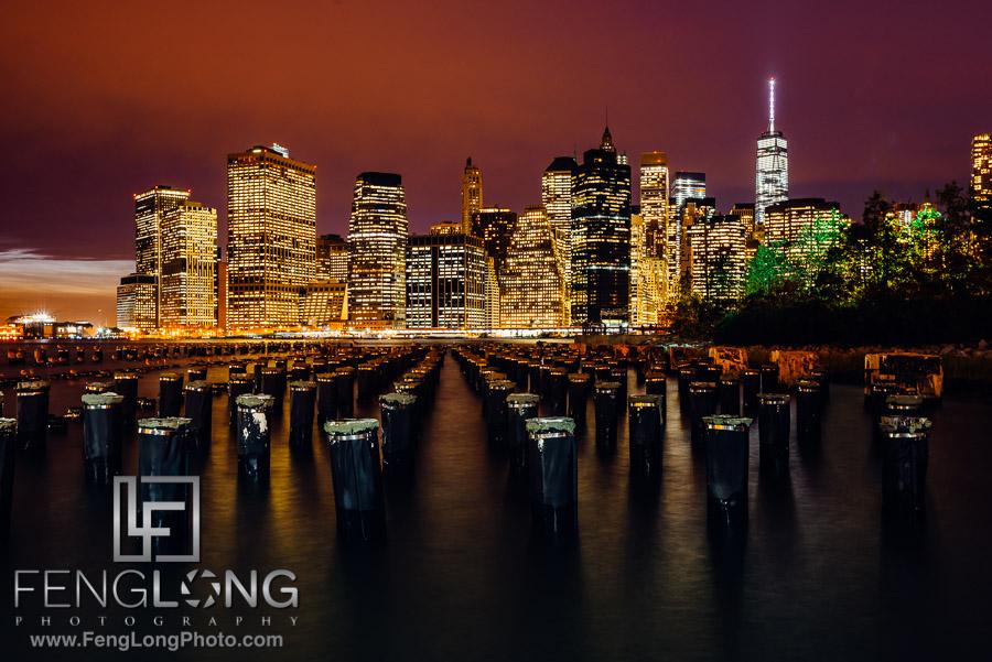 Manhattan Skyline from Brooklyn New York City Fall 2014