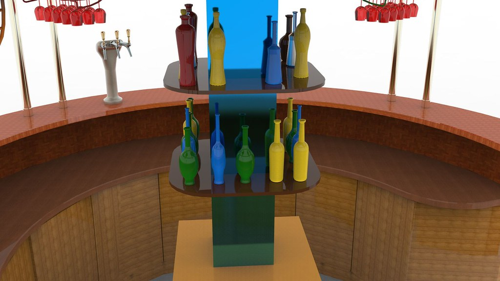Bar Textured 3d Model