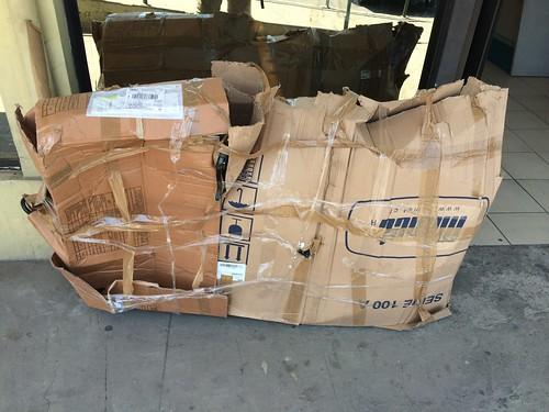 Battered bike box