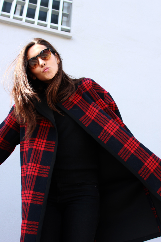 plaid coat coohuco 10