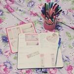 Semana de TPM + crise de enxaqueca = um monte de tarefas não completadas na agenda. #planner #week05 #planningtime