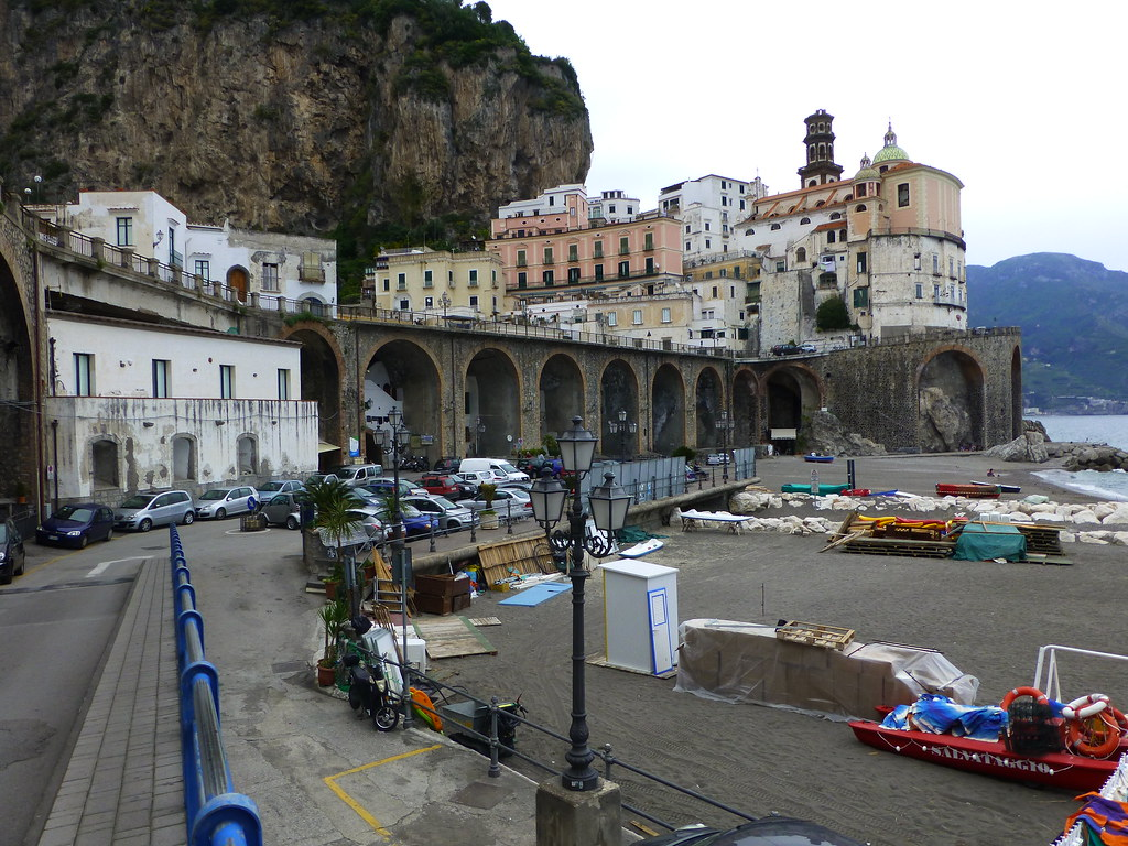 The beach at Atrani