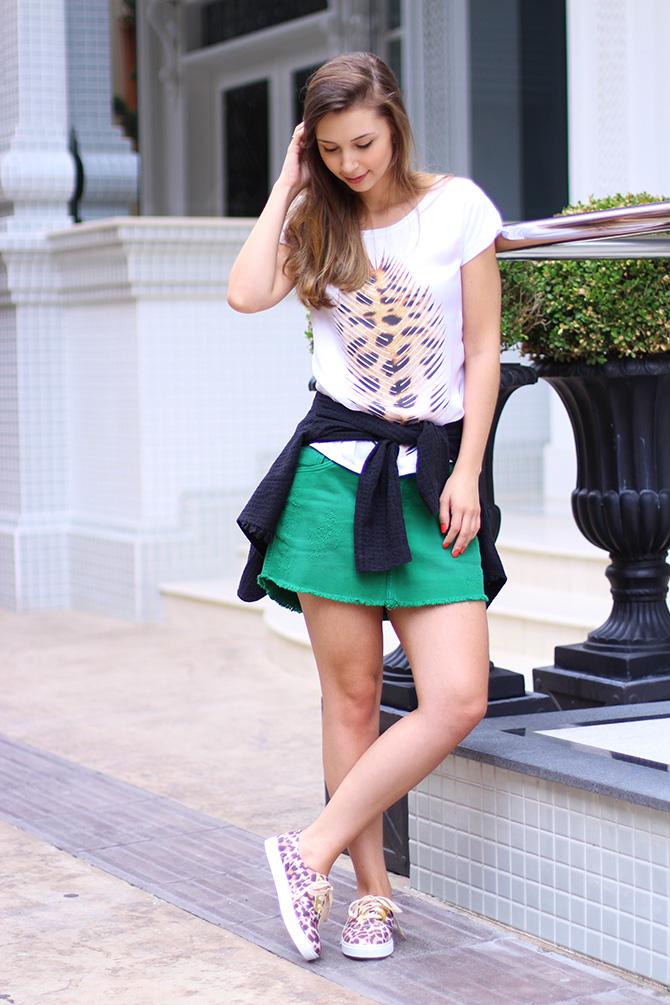 03-look do dia saia e tenis de oncinha petite jolie blog sempre glamour