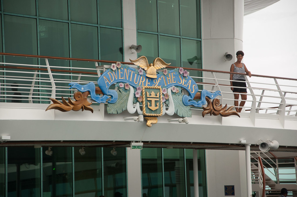 Adventure of the Seas sign
